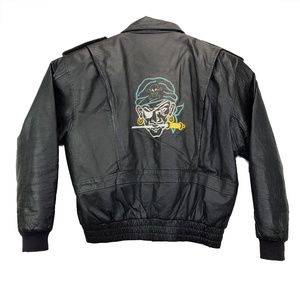 Vintage Leather Motorcycle Jacket Mens XL